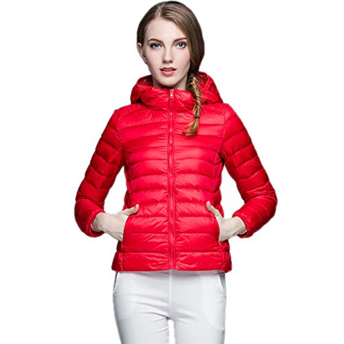 KIWI RATA Women's Hooded Packable Ultra Light Weight Short Down Jacket - Travel Bag by KIWI RATA (Image #3)