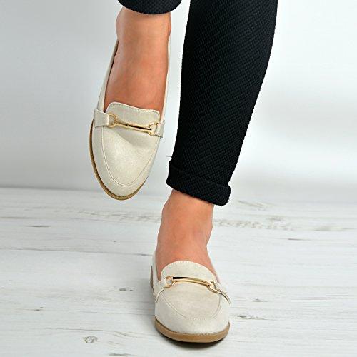 New Womens Ladies Ballet Dolly Pumps Girls Slip On Flat Heels Ballerina Casual Summer Shoes Size UK 3 4 5 6 7 8 Beige XjfDV