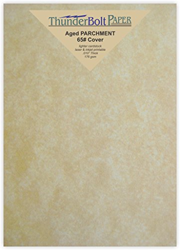100 Old Age Parchment 65lb Cover Weight Paper - 5