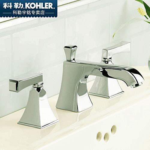 JingJingnet 流域ミキサータップ浴室のシンクの蛇口コーラー、3穴流域洗面器冷水タップK-454t-4v-cp (Color : K-454t-4v-cp) B07S4L8N5S K-454t-4v-cp