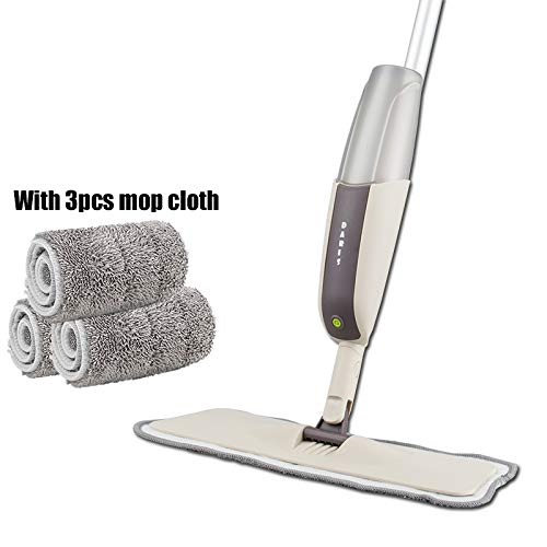 NUO ONETOWN Floor Mop with Reusable Microfiber Pads 360 Degree Handle Mop for Home Kitchen Laminate Wood Ceramic Tiles Floor Cleaning one mop 3 mop Cloth