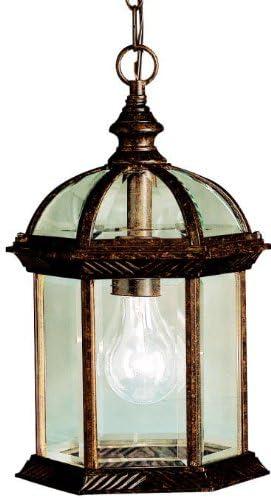Kichler 9835TZ, Barrie Cast Aluminum Outdoor Ceiling Lighting, 100 Total Watts, Tannery Bronze