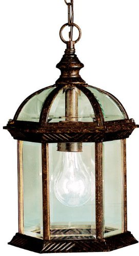 (Kichler 9835TZ Barrie Outdoor Pendant 1-Light, Tannery)