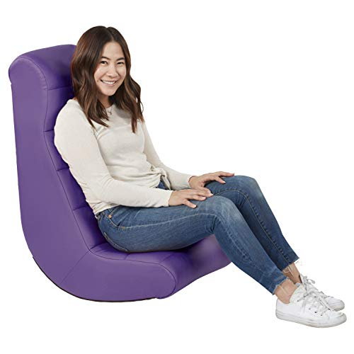Soft Ergonomic Horizontal Soft Video Rocker – Great for Reading, Gaming, Meditating, or TV for Kids Teens and Adults – Purple