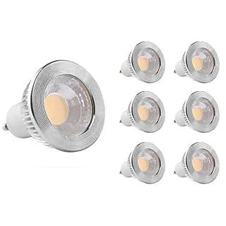 "GOOLSUN 5-watt GU10 LED COB Flood Bulb, 2700K Warm White, Dimmable, 90° Beam Spread, 50-watt Equivalent, 500 lumens, CRI 80+, AC 120V, 2.4"" Length, 6-Pack"