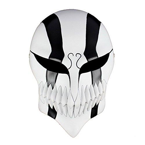Bleach Ichigo Full Hollow Mask Venetian Mardi Super Halloween Mask - Cosplaywho (Black)