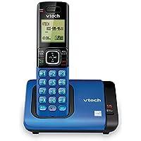 VTech Teléfono DECT 6.0con identificador de Llamadas/Llamada en Espera, Plateado/Negro con 2Auriculares inalámbricos, 1 Handset, Azul