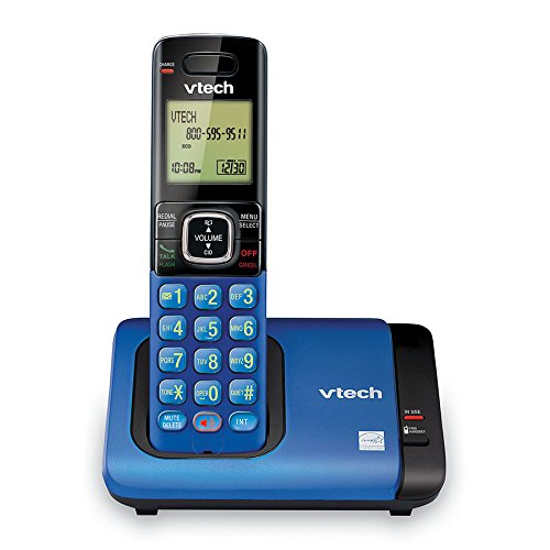 VTech CS6719-15 DECT 6.0 Cordless Phone with Caller ID/Call Waiting, 1 Cordless Handset, Blue