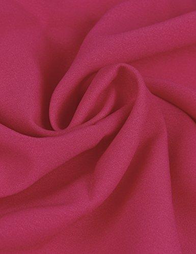 Shinkoo Rose Lunga Caduta Camicia donne Taglia Grossa Manica Ricamo Tops Chiffon 1E1rqwv