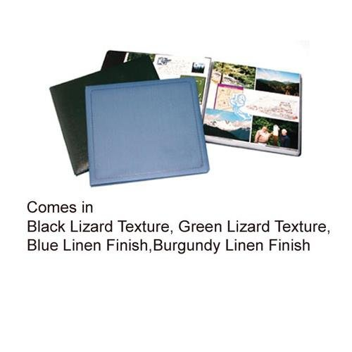Printfile Blue Linen Material 12 Pages With White Inserts - Printfile SB811BLU by Print File
