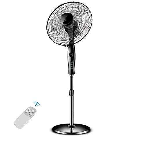 Standing Fan/Oscillating Pedestal Fans with Remote Control Pedestal Floor Fan, 3-Mode &3-Speed & 7h Timer, Black