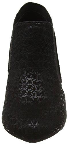 black Tacón Lotus Negro De Mujer Print Con Punta Zapatos Pacta Print Blk Cerrada OrqOz