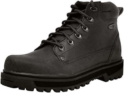 Skechers USA Men's Pilot Utility Boot,Black,11 M US (The Best Motorcycle Boots)