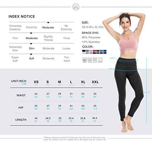fd8024599175c Queenie Ke Women Yoga Leggings Nine Pants Power Flex Mid-Waist Gym Running  Tights Size