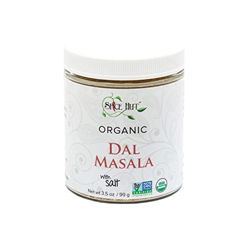 The Spice Hut Organic Dal Masala, Quick and Easy Spice Blend for Indian Cooking, With Salt 3.5 oz. Glass Jar, 3.5 (Dal Masala Spice Blend)