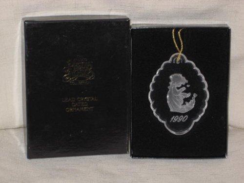 Precious Moments - Lead Crystal 1990 Christmas Tree Ornament