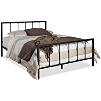 Wholesale Interiors Amy Antique Iron Metal Platform Bed, Queen, Dark Bronze
