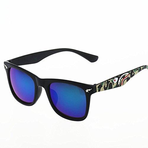 f223f5f546 HJJ ASD Gafas De Sol Caja De Camuflaje Relámpago Brillante Película Gafas  De Sol Al Aire