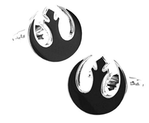 Unknown Travel Jewelry shirt cufflink for mens Brand cuff buttons cuff link Black Star Wars gemelos abotoaduras