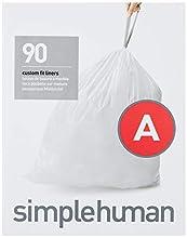 simplehuman Code A Custom Fit Drawstring Trash Bags, 4.5 liters / 1.2 gallons, (90 Count)