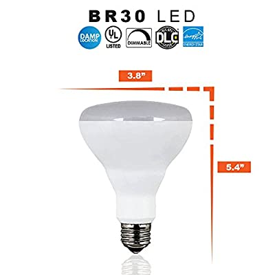 Ecosmart LED BR30 Indoor Flood Bulb, 65W Replacement - 10 Watt - 650 Lumens - 2700K Soft White - Dimmable - UL & Energy Star