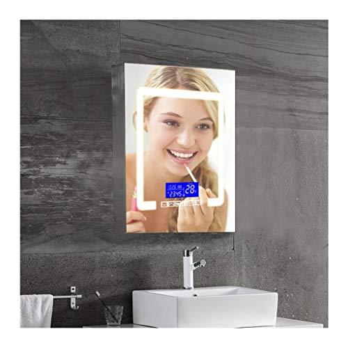 XCJ Bathroom Cabinet Mirror Cabinet Bathroom Mirror Cabinet, Modern LED Bathroom Mirror -