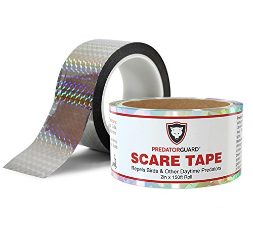 41J4LmR kmL - BEST Bird Repellent Scare Tape + FREE BONUS - Repels Birds & Daytime Predators - Huge 150 Ft. Roll