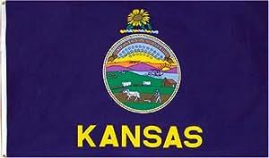 Kansas 3ft x 5ft Printed Polyester Flag