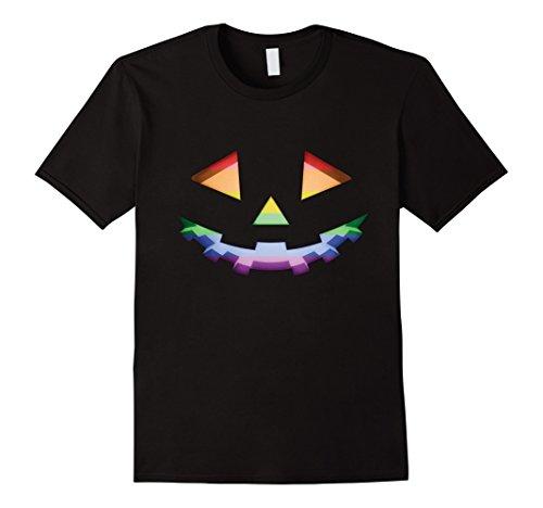 Mens Gay LGBT Pride Pumpkin Halloween Costume T Shirt 3XL Black