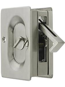 Emtek Pocket Door Privacy Lock Set Satin Nickel Pocket