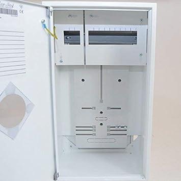 Contador Armario seguridad caja de distribución (F., 1 x Contador de 1 PH + 12 se.: Amazon.es: Bricolaje y herramientas