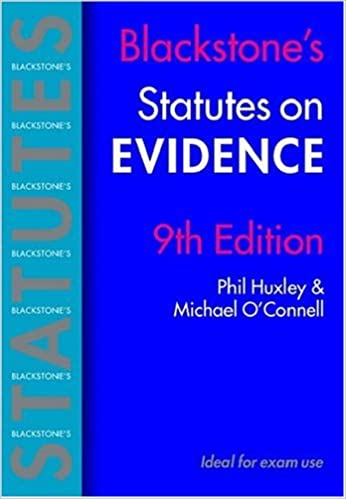 Book Blackstone's Statutes on Evidence (Blackstone's Statute Book)