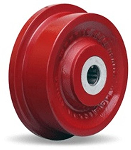 6'' X 2'' Cast Iron Flanged Wheel, 2000 lbs Capacity, Roller Bearings
