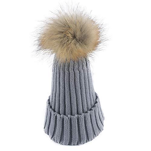 WGFGQX De Caliente Aire Sombrero del Sombrero De Punto Al 1 8 Pompom Señoras Las Libre rqArgZw