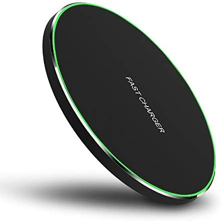 10W Qi Wireless Charging Pad Compatible with iPhone 11//11 Pro//11 Pro Max//Xs Max//XS//XR//X//8//8+ 5W for All Qi-Enabled Phones Black Samsung S10//S10+//S9//Note 10//Note 10+ Hiapix Wireless Charger