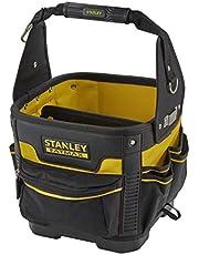 Stanley FatMax 1-93-952 Gereedschapstas/transporttas (29 x 29 x 38 cm, robuust 600 denier nylon, ergonomische handgreep en schouderriem, uitneembare verdeler met riemclip, elastische houders)