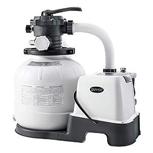 Intex 26676 – Sistema Combinado depuradora Arena y clorador salino Eco 7 Gramos/Hora, 32.000 litros