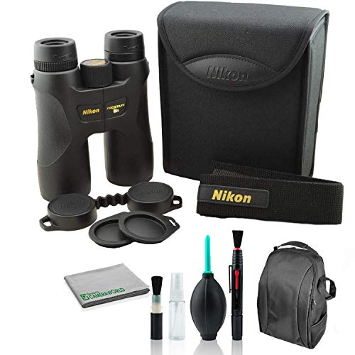 Nikon 10x42 ProStaff 7S Waterproof and Fogproof Binocular 16003 Bundle with Cleaning Kit + Deluxe Padded Backpack
