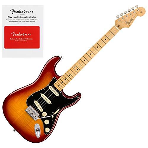 Fender 0176502873 Rarities Flame Ash Top Stratocaster, Birdseye Maple Neck, Plas
