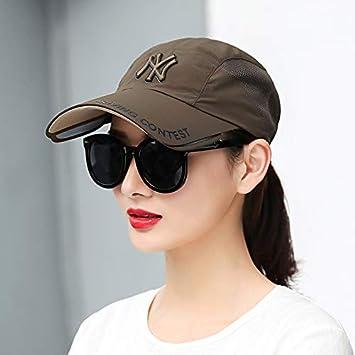 LIUXINDA-ZZM Sombrero de Verano Marea Femenina Gorra de béisbol Salvaje  Visera Femenina Gorra de 98dad2e2f4b