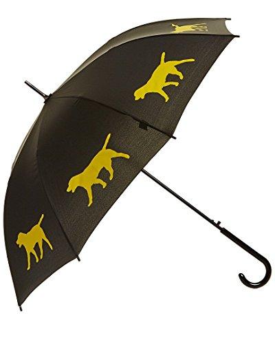 Labrador Retriever Rain Umbrella - Black/Yellow By San Francisco Umbrella Co. by The San Francisco Umbrella Company
