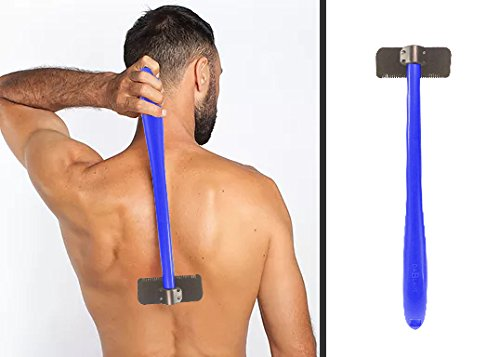 "Back Shaver – Men's Back Hair Remover – Manual Body Shaver - Handheld 14.5"" DIY Back Hair Shaver - Pain Free, Efficient and Easy to Use - Includes Replacement Cartridge – Body Shaver for Men & Women"