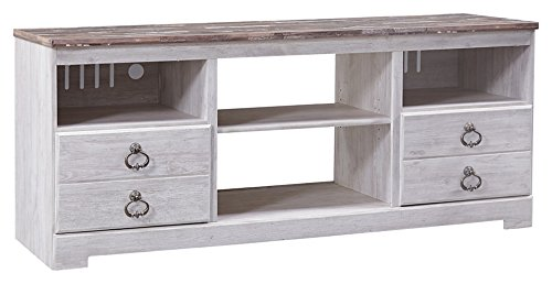 """Ashley Willowton Collection W267-68 63"""" Large TV Stand with"""