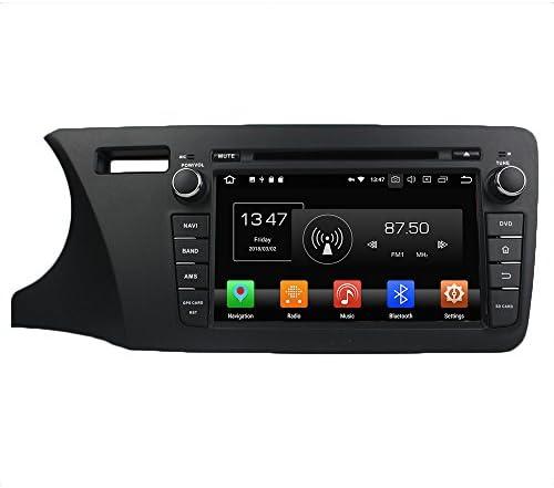 KUNFINE Android 9.0 8核自動車GPSナビゲーション マルチメディアプレーヤー 自動車音響 本田 HONDA CITY 2014 Left 自動車ラジオハンドル制御WiFiブルースティスト