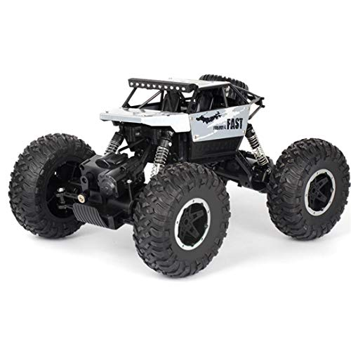 (HighlifeS R/C Rock Crawler Radio Control Vehicle 1/18 2.4G 4WD 15KM/h (Silver))