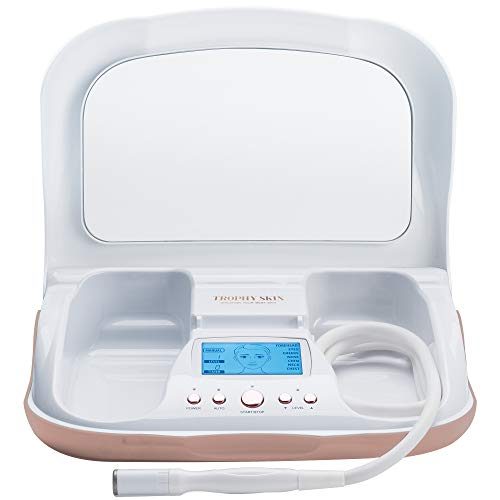 Trophy Skin MicrodermMD at Home Microdermabrasion Machine to Exfoliate and Rejuvenate Skin, Reduce Wrinkles, and Provide Anti-Aging Effects on Face and Body – Diamond Tips and Sensitive Mode