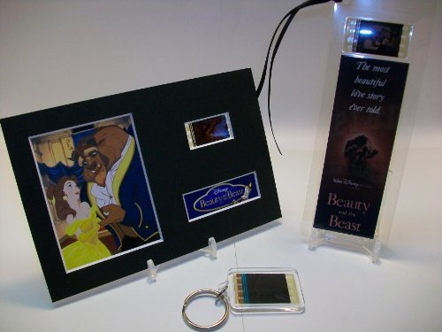 BEAUTY & THE BEAST 3 Piece Film Cell Collection Collectible Movie Memorabilia...