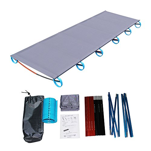 Ultralight Portable Folding Single Camp Bed Travel Cot Tent Bed