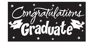 amazon congratulations graduate black graduation giant banner