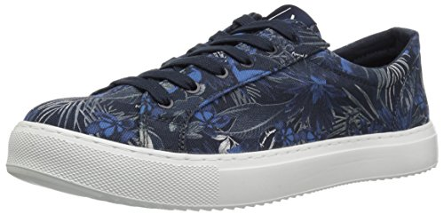 A|X Armani Exchange Men's Exotic Jungle Print Low Cut Sneaker Blue, 10 Medium US